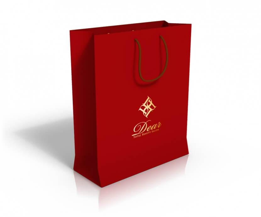 ヘアサロンの紙袋デザイン