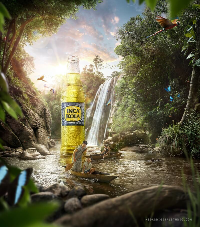 飲料の広告デザイン作成例1