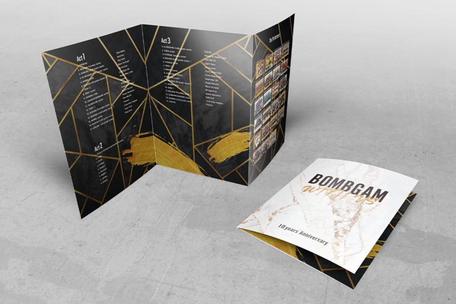 三つ折りパンフレットデザイン